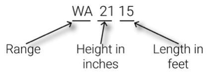 WA Water-Gate Size Diagram