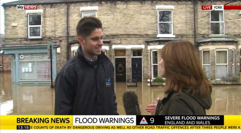 Flood Surveyor on Sky News